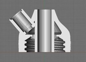 vnitřní struktura špuntu