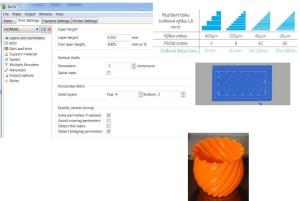 slicer nastavení 3D tiskárny makerslab praha základní nastavení