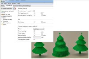 slicer nastavení 3D tiskárny makerslab praha základní nastavení podpor