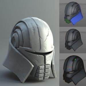 3D tištěná helma starkiler